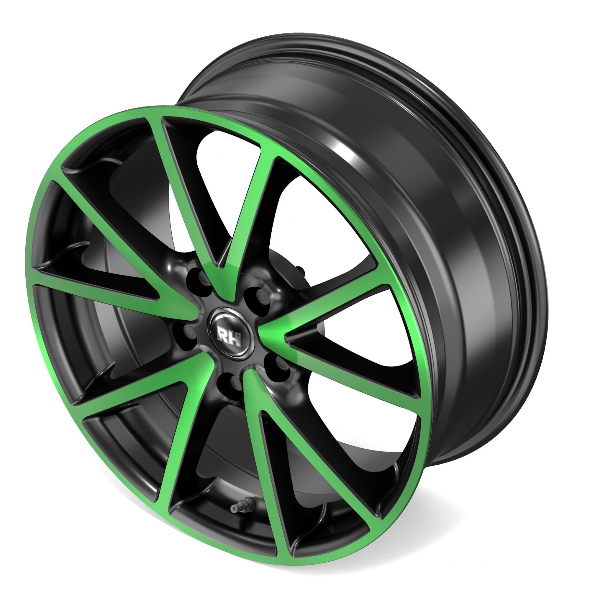 rh alurad de sports felgen color polished green gr n. Black Bedroom Furniture Sets. Home Design Ideas