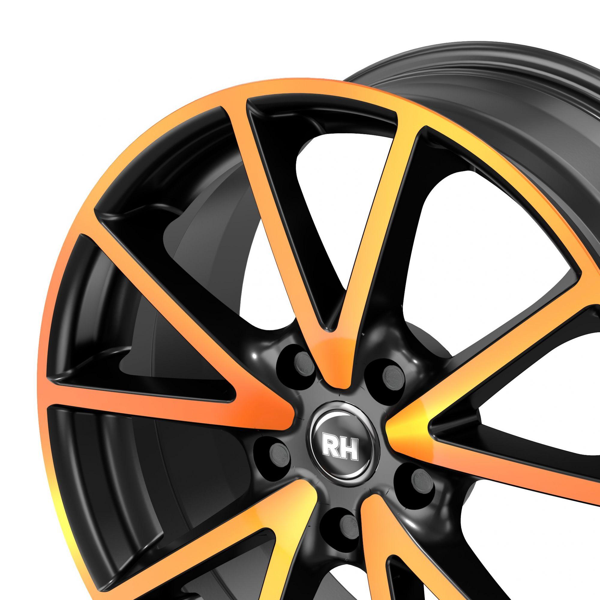 rh alurad de sports felgen color polished orange in 18. Black Bedroom Furniture Sets. Home Design Ideas