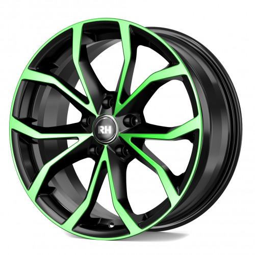 rh alurad df energy felgen color polished green schwarz. Black Bedroom Furniture Sets. Home Design Ideas