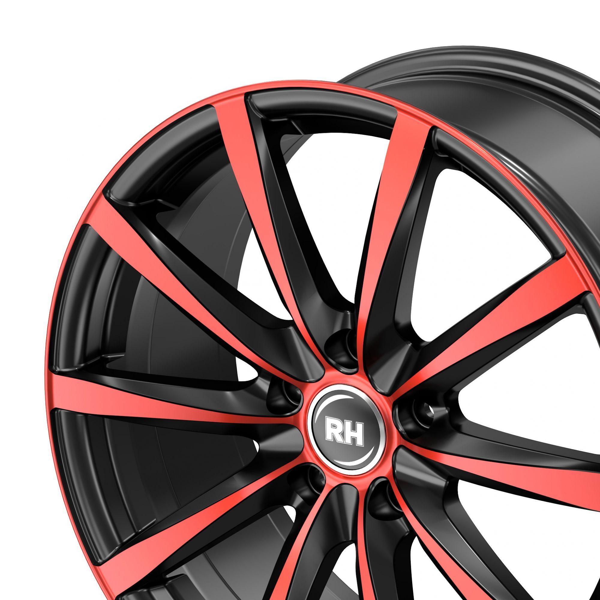 rh alurad gt felgen color polished red rot in 18 zoll. Black Bedroom Furniture Sets. Home Design Ideas