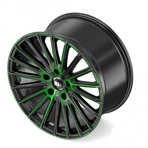 rh alurad wm flowforming felgen color polished green. Black Bedroom Furniture Sets. Home Design Ideas