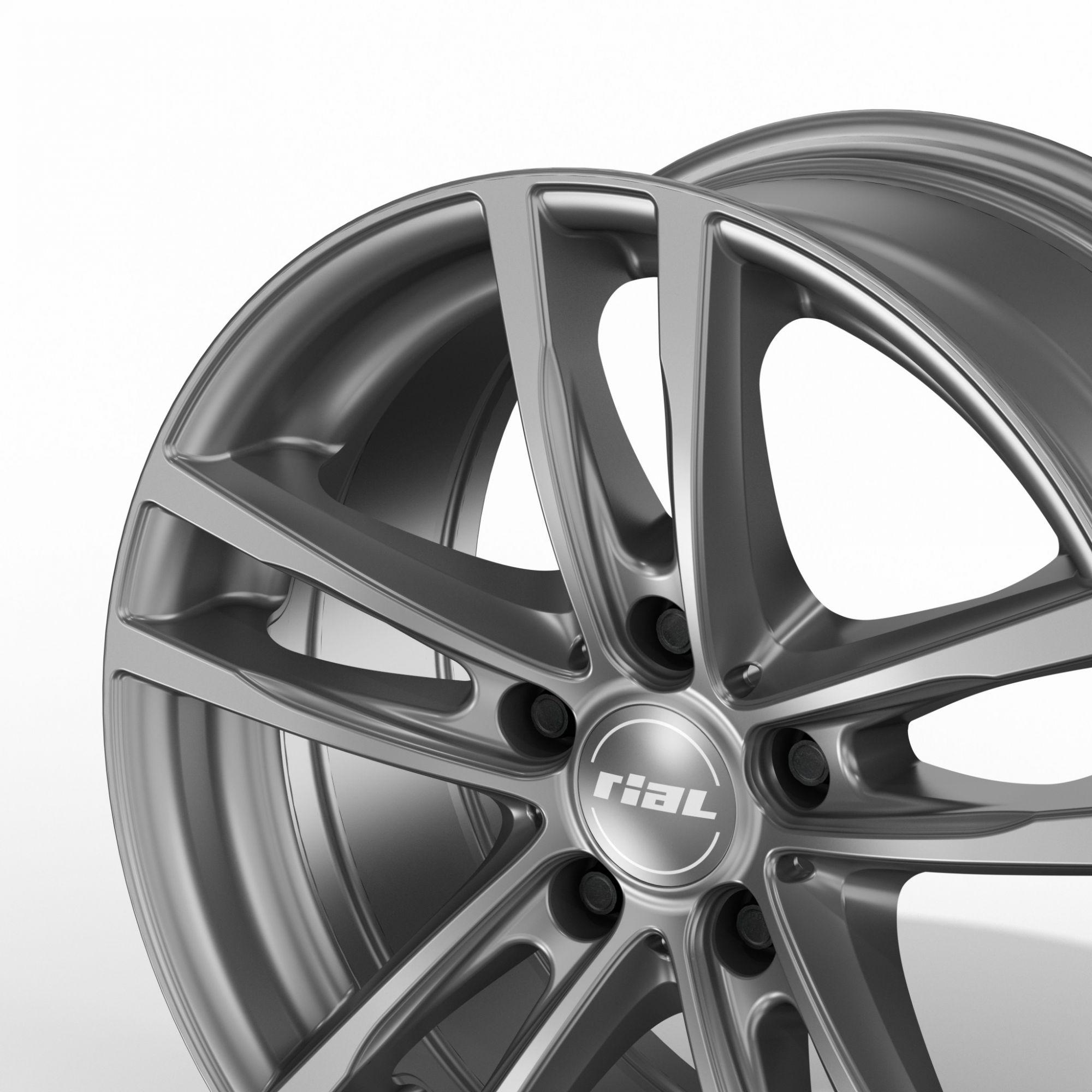 rial x10 felgen metal grey grau in 18 zoll. Black Bedroom Furniture Sets. Home Design Ideas