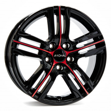RONAL R57 MCR JETBLACK-RED SPOKE