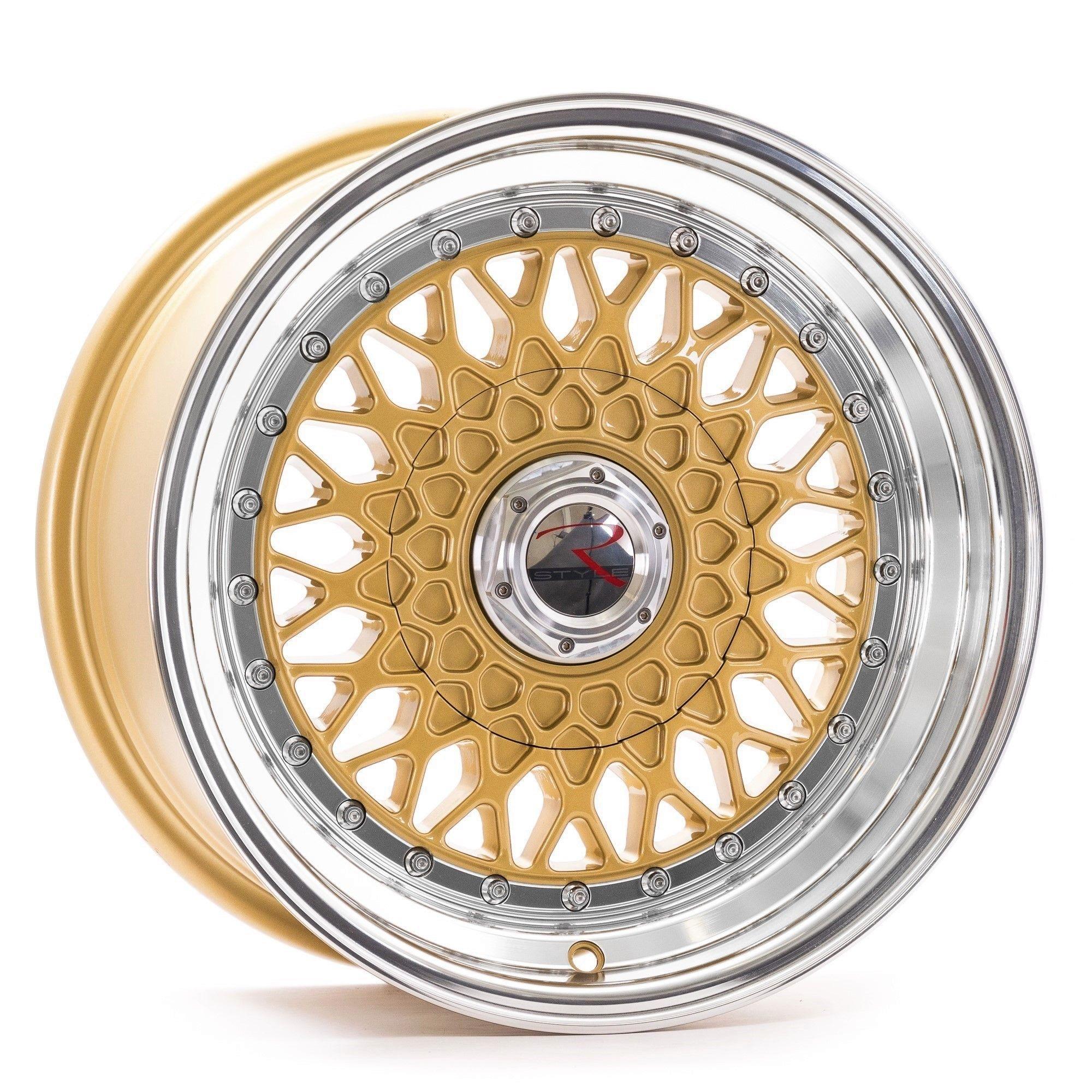 rstyle wheels rs01 felgen gold horn polished in 15 zoll. Black Bedroom Furniture Sets. Home Design Ideas