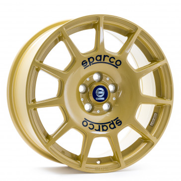 SPARCO TERRA RACE GOLD + BLUE LETTERING