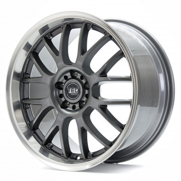 Tec Speedwheels GT-AR1 dark grey polished lip