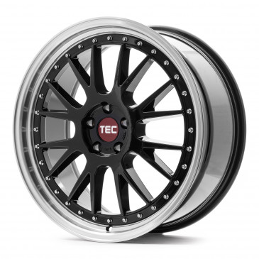 Tec Speedwheels GT EVO black polished lip