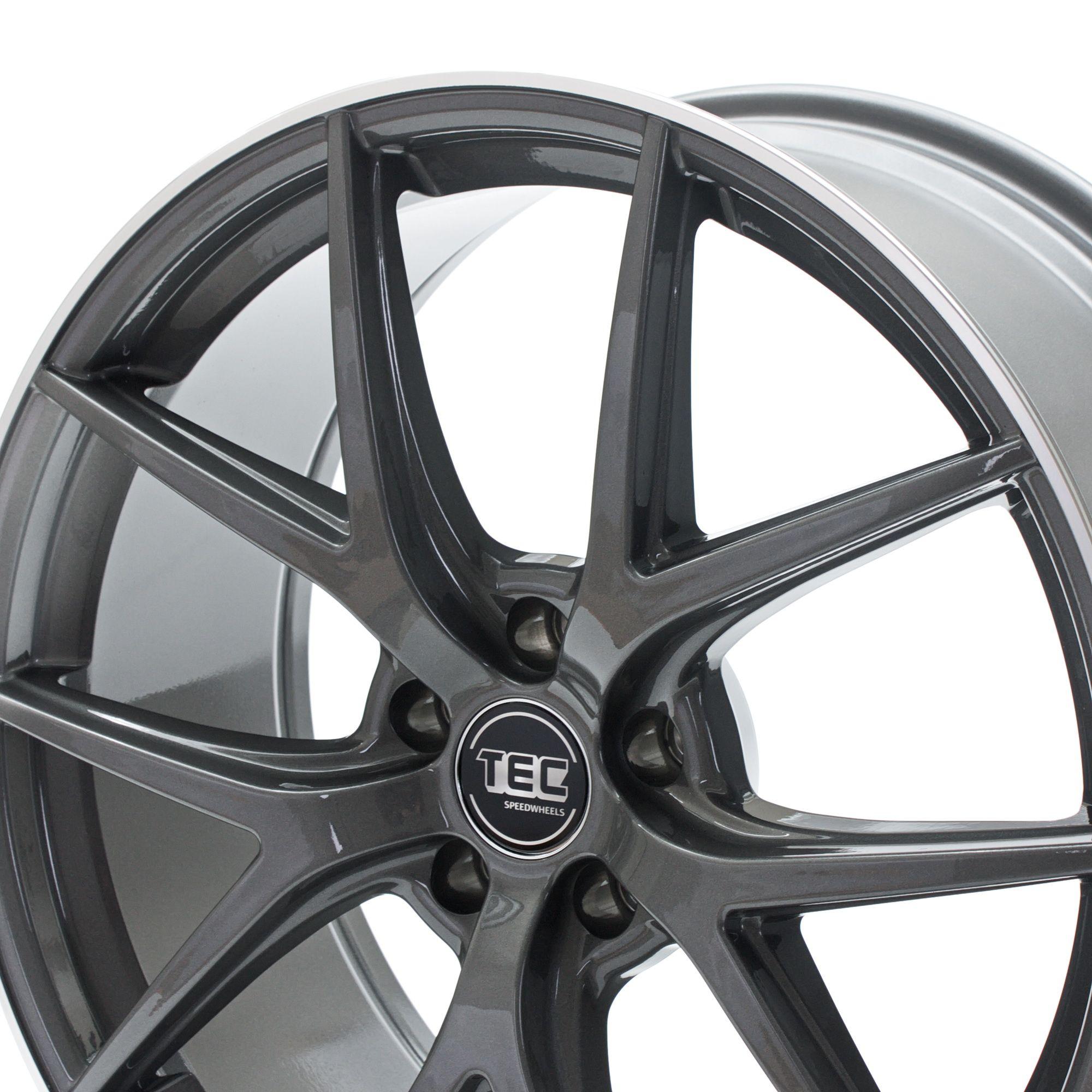 tec speedwheels gt6 felgen dark grey polished lip grau. Black Bedroom Furniture Sets. Home Design Ideas
