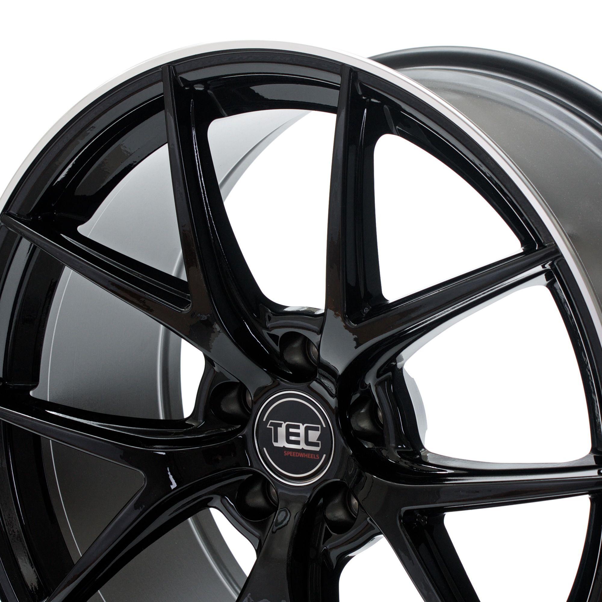 tec speedwheels gt6 felgen black polished lip silber. Black Bedroom Furniture Sets. Home Design Ideas