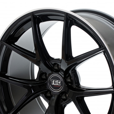 Tec Speedwheels GT6 black polished lip