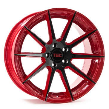 Tec Speedwheels GT7 black red 2 tone
