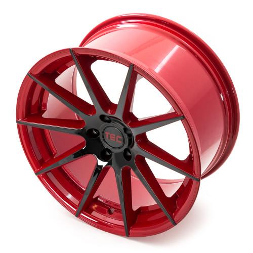 tec speedwheels gt7 felgen black red 2 tone schwarz rot. Black Bedroom Furniture Sets. Home Design Ideas