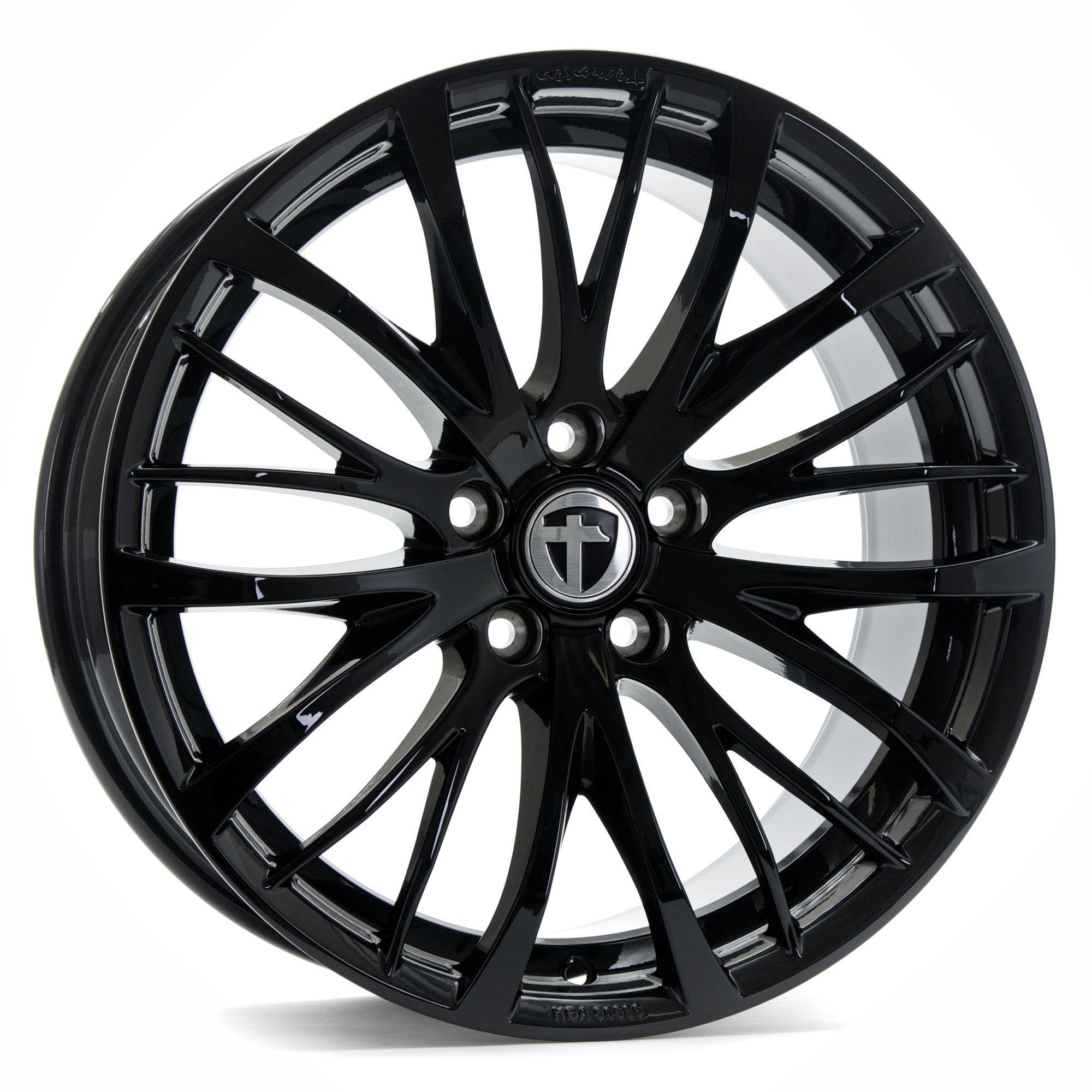 tomason tn7 felgen black painted schwarz in 19 zoll