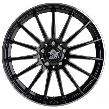 Ultrawheels UA4 black / rim polished