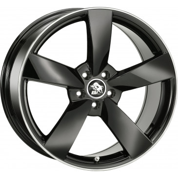 Ultrawheels UA5 black / rim polished